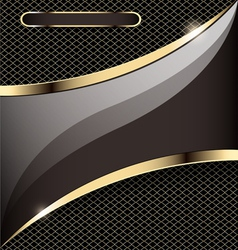 Background with a gold stripe vector