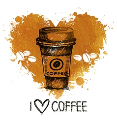 Hand drawn vintage coffee vector