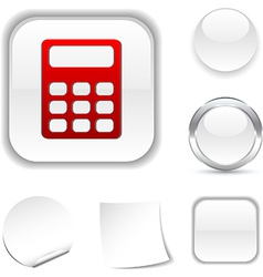 Calculate icon vector
