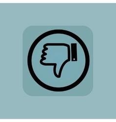 Pale blue dislike sign vector