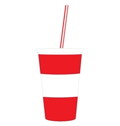 Disposable cup vector