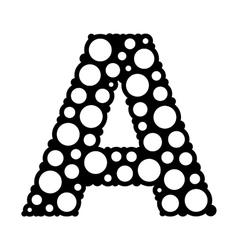 Bubble style letter a logo icon vector