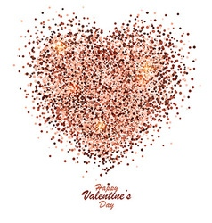 Valentine card with gold dust heart 2 vector