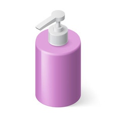Liquid soap isometric vector