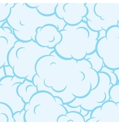 Pop art smoke seamless pattern blue vector