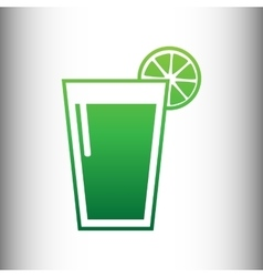 Glass of juice icons vector