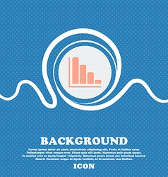 Infographic icon sign blue and white abstract vector