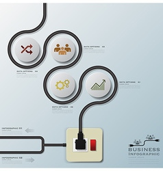 Electric wire line business infographic vector