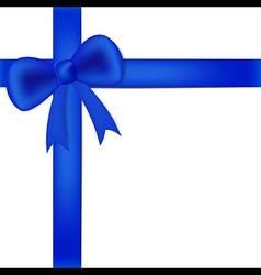 Blue ribbon on white box vector image