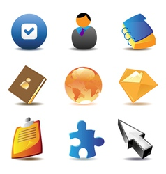 Business contacts icons vector image vector image