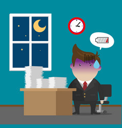 Businessman burnout syndrome after hard working vector
