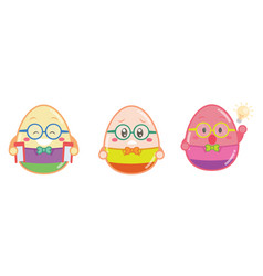 collection of easter egg style vector image