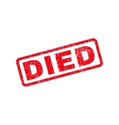 Died text rubber stamp vector