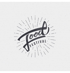 Festival food - labels stickers hand lettering vector
