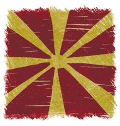 Flag of macedonia handmade square shape vector