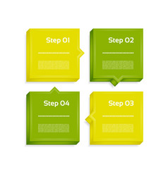 four steps process arrows vector image