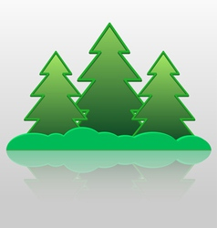 Fur trees vector image vector image