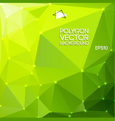 green polygon backround vector image vector image