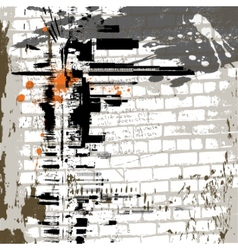 grunge wall background vector image