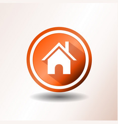 Home icon in flat design vector
