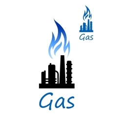 Natural gas or oil refinery factory vector