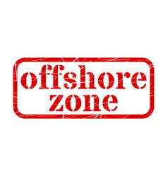Offshore red stamp grunge sign vector