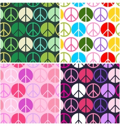 peace seamless pattern vector image