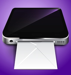 Receiving mail through a mobile device vector