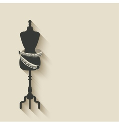 sewing mannequin background vector image
