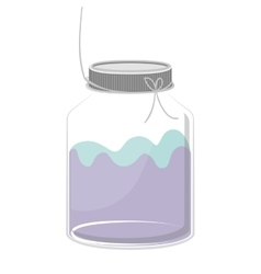 silhouette glass container with colorful liquid vector image vector image