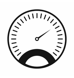 Speedometer icon simple style vector image