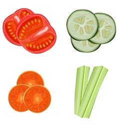 vegetables sliced vector image