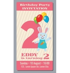 Birthday anniversary party invitation card with vector