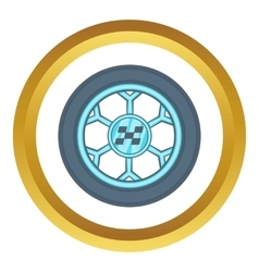 Wheel from racing car icon vector