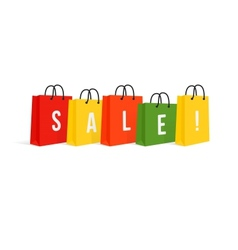 Shopping Bags Sale Isolated On White vector image