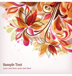 Floral graphics vector