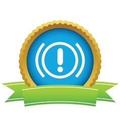 Alert round icon vector