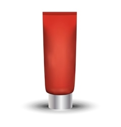 Tube of cream or gel red clean ready for your vector