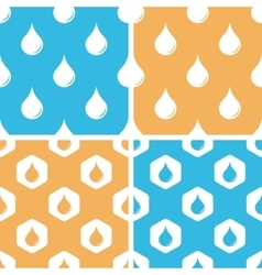Water drop pattern set colored vector