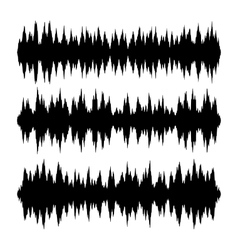 Sound waves set on white background vector