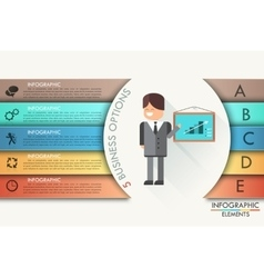 Modern infographics options banner with realistic vector
