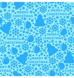 merry pattern blue vector image