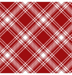Menzies tartan red kilt diagonal fabric texture vector image