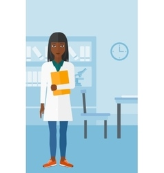 Doctor in medical office vector