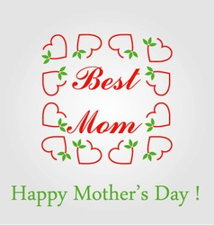 Happy mothers day greetings vector