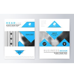 Blue annual report brochure vector