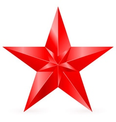 Shiny red star 09 vector