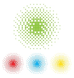 Dotted frame abstract background halftone effect vector