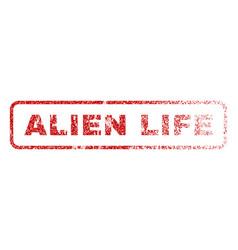 alien life rubber stamp vector image vector image