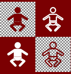 Baby sign bordo and white vector